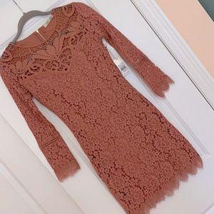 DEX Dusty Rose Knit Dress